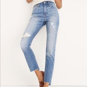 The High Rise Slim Boyjean by Madewell